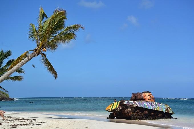 Old tank Playa Flamenco