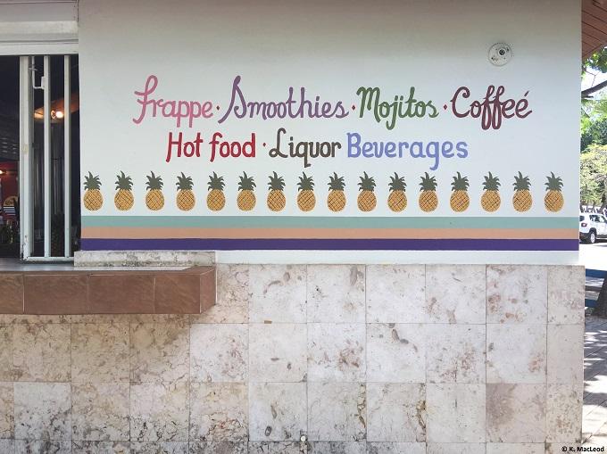 Playa Flamenco food stall