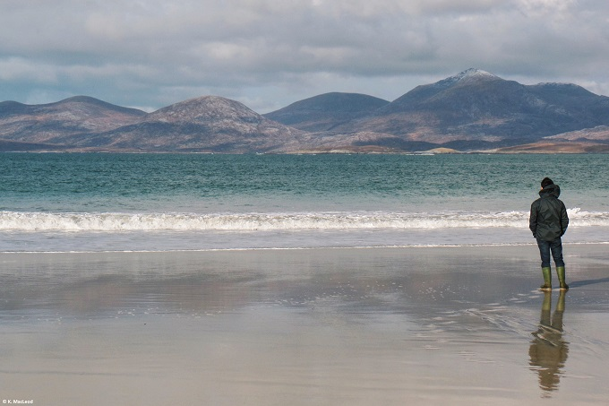 Standing on Luskentyre Beach