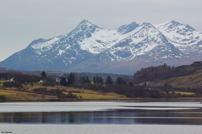 View of the Cuillin from Portree