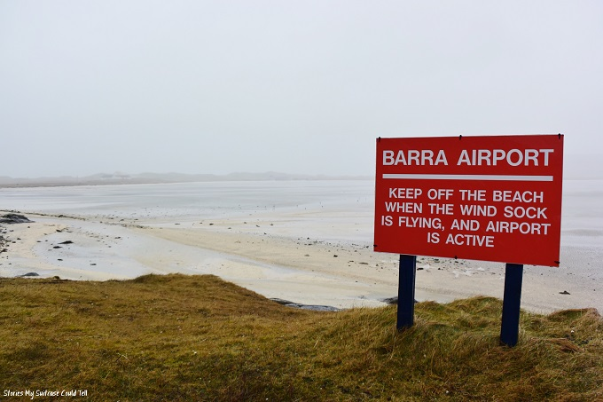 Barra airport sign