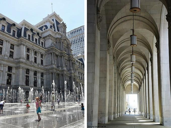 Philadelphia City Hall and archways