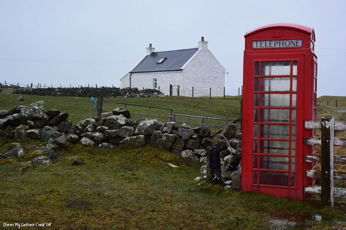Red phone box Isle of Barra