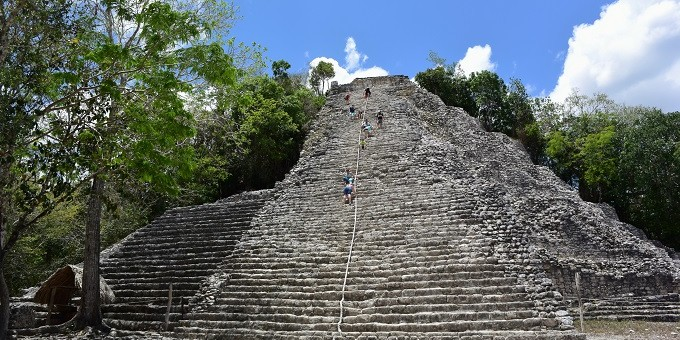 Mayan temple at Coba, Mexico