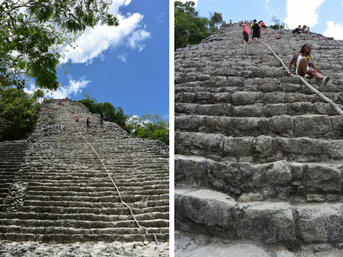 Mayan temple steps at Coba