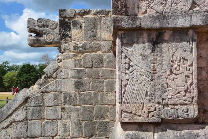 Mayan sculptures at Chichen Itza