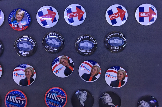 Hillary Clinton political badges