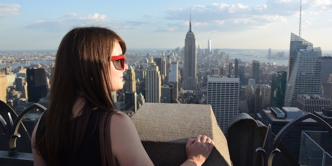 Looking at the New York skyline