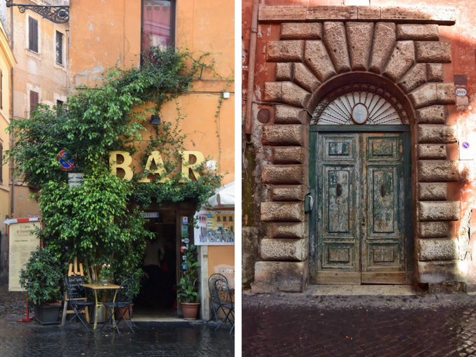 Trastevere doorways