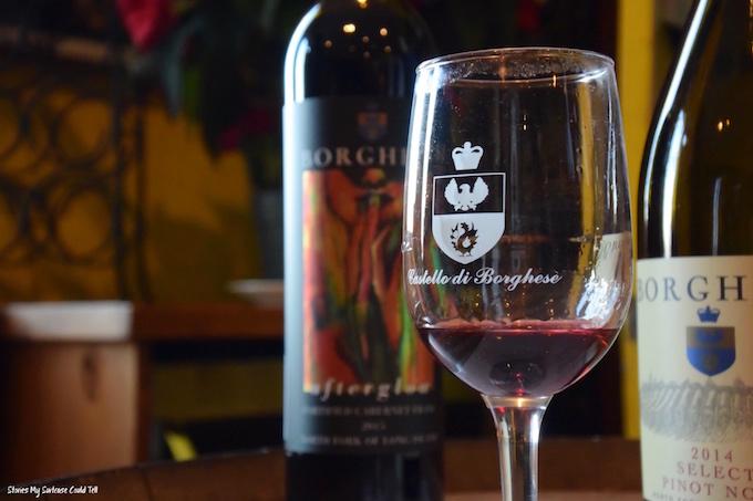Wine at Borghese Vineyard