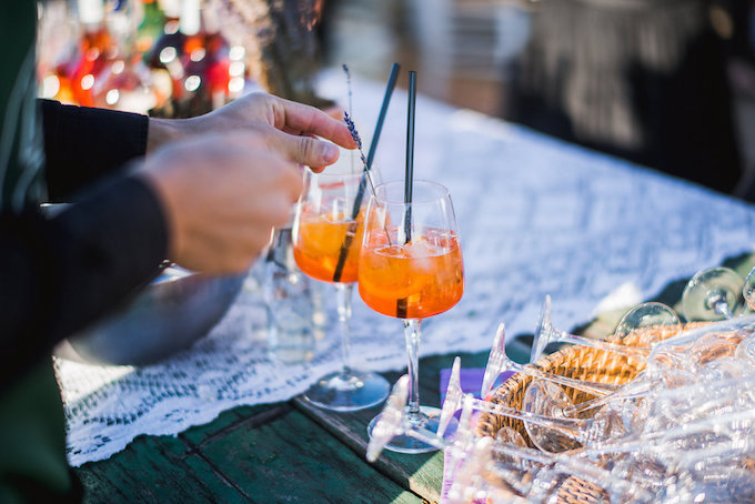 Aperol spritz destination wedding Tuscany