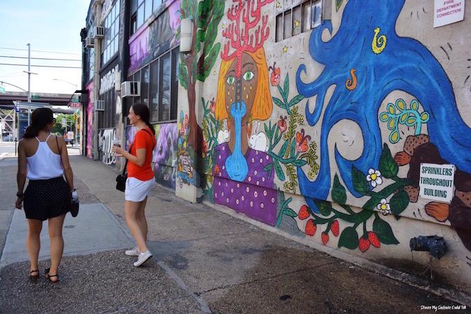 Long Island City street art wall