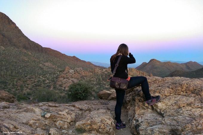 Taking photos in the desert