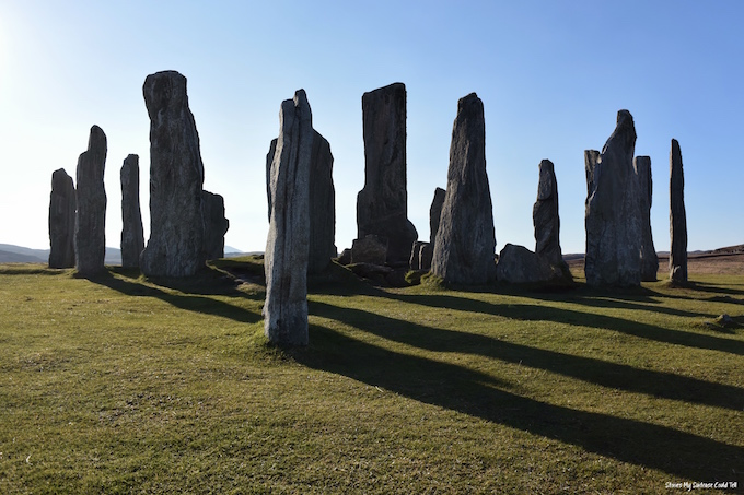 Callanish Stones in sunlight