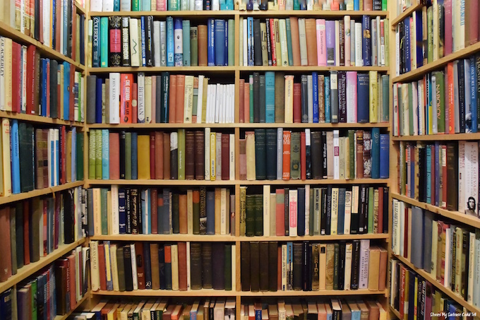 Bookshop shelves