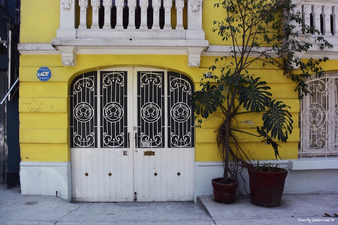 Yellow Condesa building Mexico City