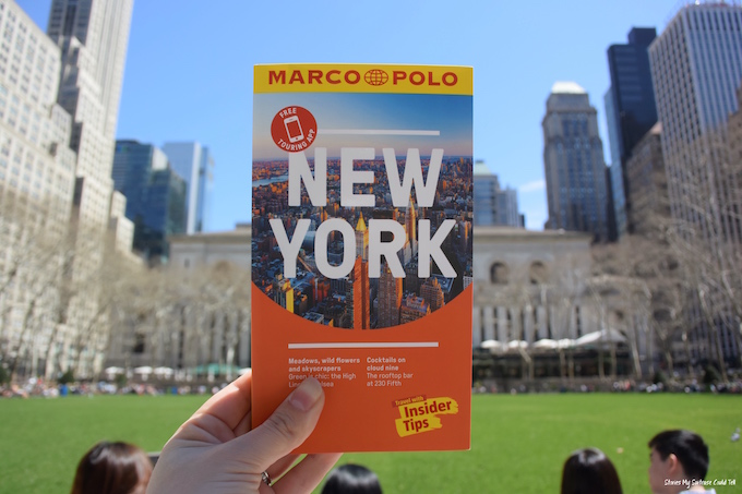 NYC guidebook Bryant Park