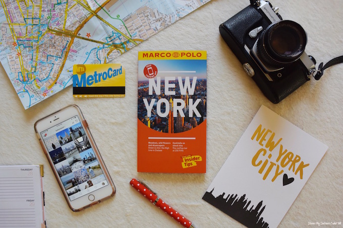 NYC guidebook and map
