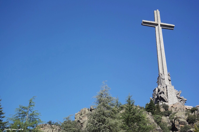 Stone cross at Valley of the Fallen Spain