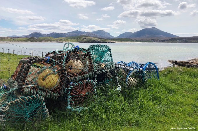 Lobster pots Outer Hebrides