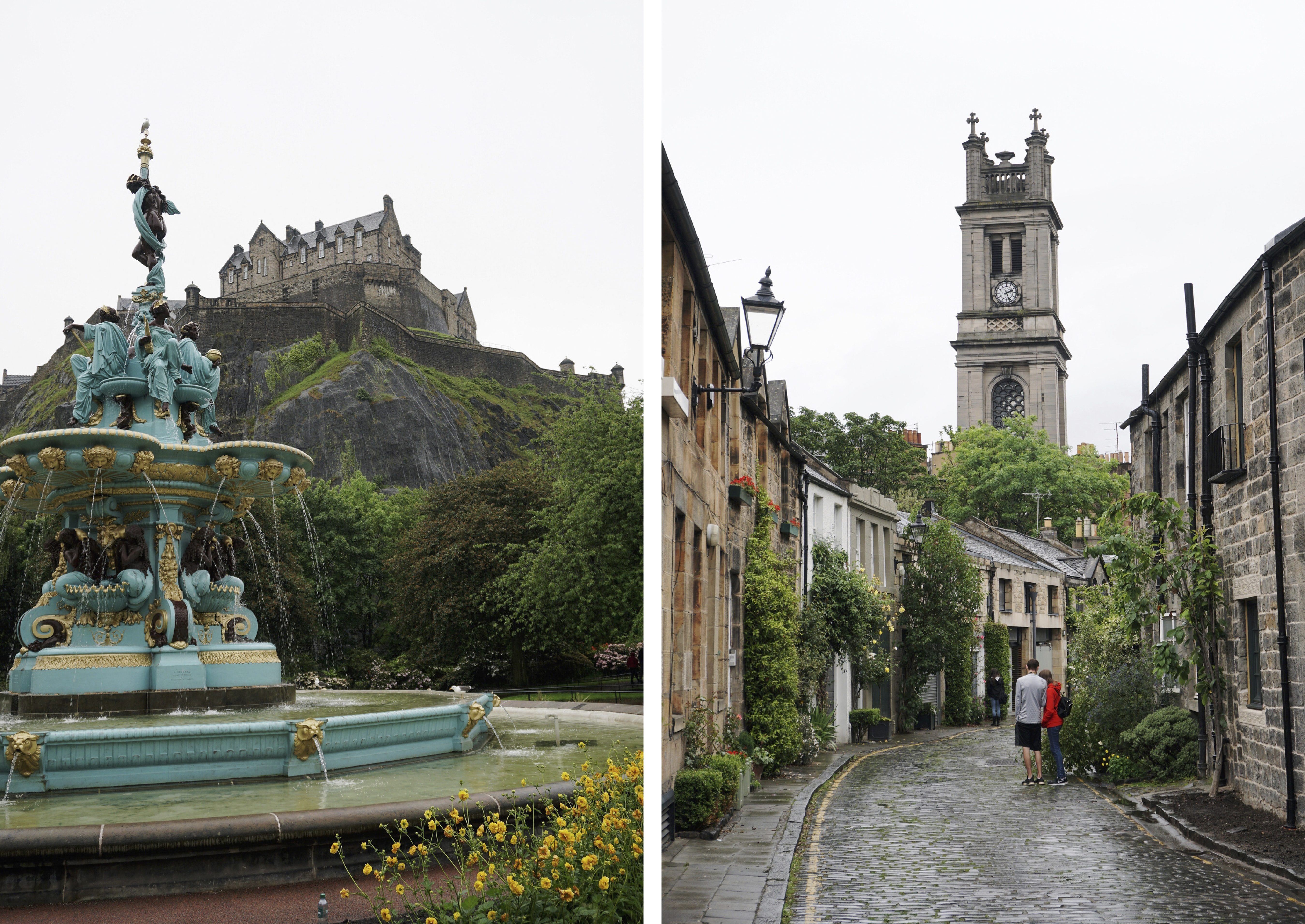 Old and new town Edinburgh