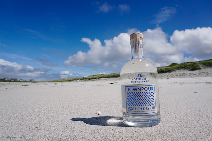 Downpour Gin North Uist beach