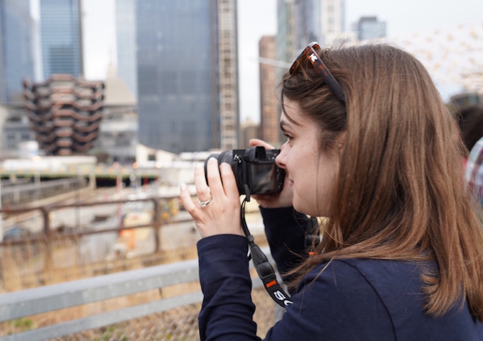 Katie taking photos at the High Line