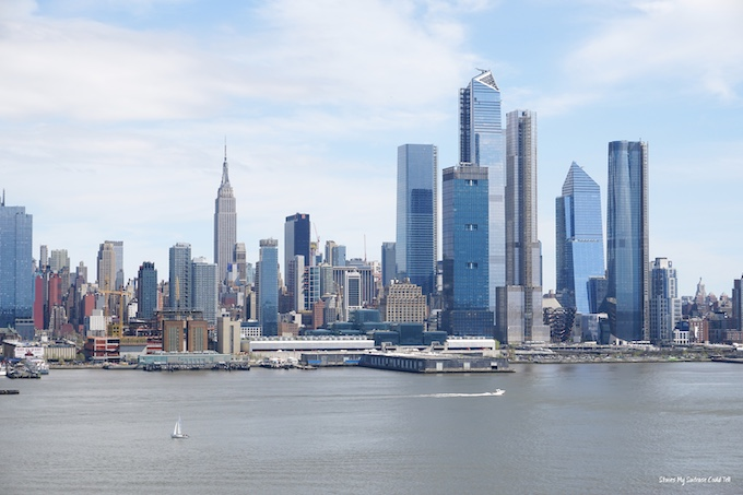 Manhattan skyline in summer