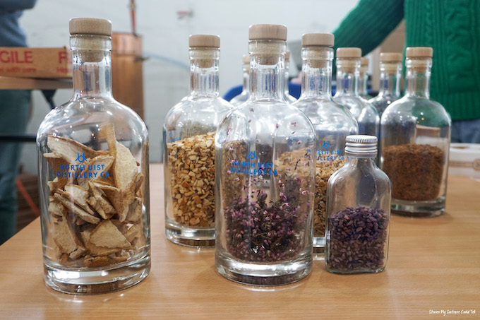 Downpour Gin ingredients
